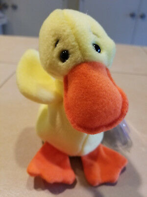 Quackers Ty Beanie Babies-plush-stuffed animal-collectible-baby-duck