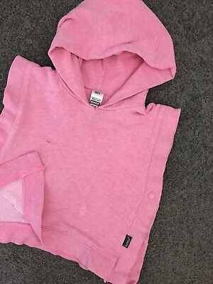 Size 0 ~ BONDS ~ Pink Hooded Poncho Pullover