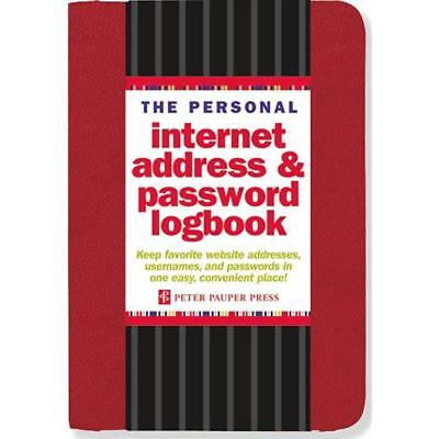 Internet Address Password Logbook (Red 144 Page) Network Configuration Note Book