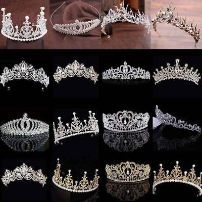 Women Bridal Tiara Diamond Rhinestone Crown Wedding Party Crystal Headband