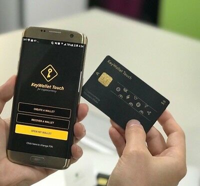 Keypair Keywallet Touch Cryptocurrency Cold & Hardware NFC Card typed Wallet