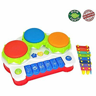 EXCOUP Baby Drums Musical Toys Piano Gifts Toys for 1 Year Old