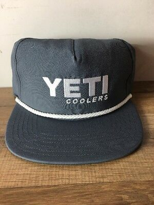 4228b9c0038 NWT YETI COOLER Rope SLATE Gray Snapback Adjustable Hat -  3.50 ...