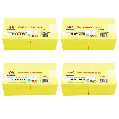 4A Sticky Notes Memo Reminder 3'' x 3'' Canary Yellow 12 Pads Total 1200 Sheets