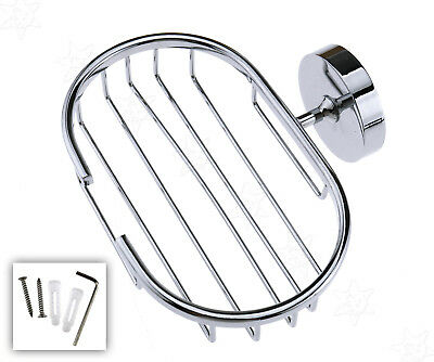 Bathroom Chrome Wall Mounted Soap Dish Holder Soap Basket Stand With Hook