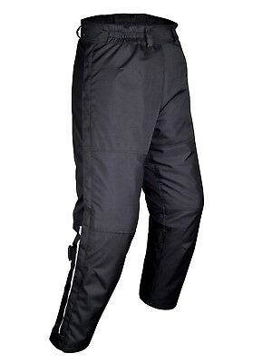 WICKED STOCK Mens Motorcycle Mesh Pants Full Leg Zipper Black