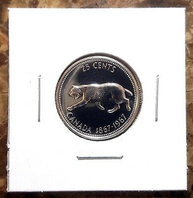 Canada 1967 Centennial Silver Quarter 25 Cents Proof Like!!