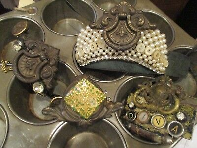 repurposed vintage antique hardware salvage steampunk jewelry headband handle
