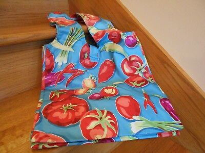 Longaberger Farmer's Market Tote colorful print tomatoes peppers *free shipping*