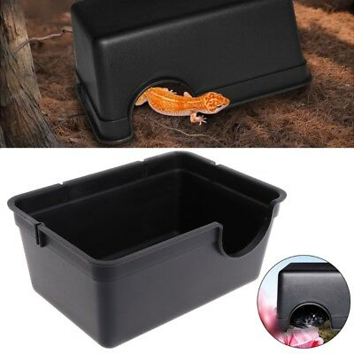 Plastic Reptile Hide Box Den Spawning Cave fo Tortoise Snake Lizard Small Large