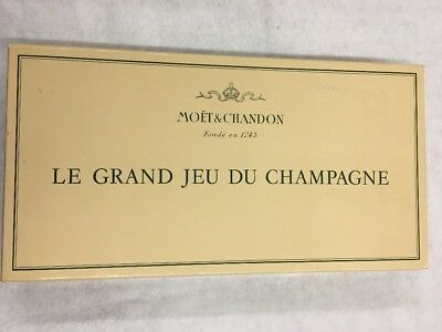 Moet And Chandon Le Grand Jeu Du Champagne Board Game RARE made in FRANCE