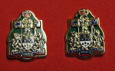 Canadian Forces Army Chief Warrant Officer Collar Badges Insignia Rank Cwo