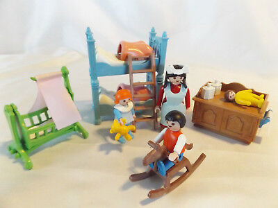 Playmobil 5311 victorian dollhouse bedroom Pink baby crib cover