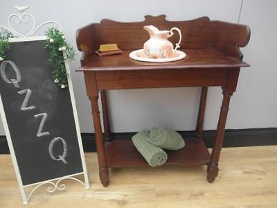 Vintage ANTIQUE Cedar Timber WASHSTAND with JUG & Bowl Wash STAND QZZQ Adelaide