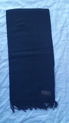 100% Pure Pashmina-Cashmere Winter Scarf Black Unisex Hand made in Nepal