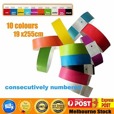 Cheap SALE Tyvek Wristbands Event Party Festival SecurityID consecutively number