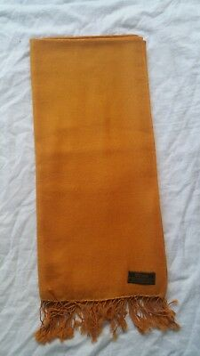 100% Pure Pashmina-Cashmere Winter Scarf Mustard Unisex Hand made in Nepal