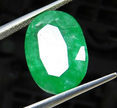 Natural 6.90 Ct Beautiful  Oval Cut Colombian Loose Emerald Gemstone. 514 AM