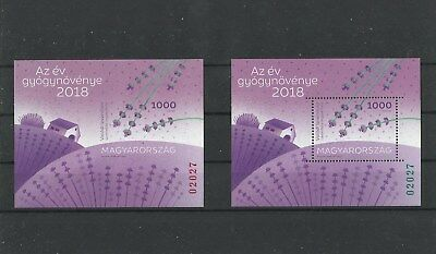 D 2507.Hungary 2018.Medicinal plant of the year lavender SPECIAL EDITION MNH BL