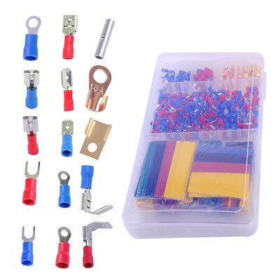 678x Car Wire Electrical Set - 350 Terminals Connectors + 328 Heat Shrink Tube