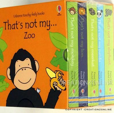 Thats Not My Zoo Collection Usborne Touchy-Feely 5 Books Set Monkey, Lion, Panda