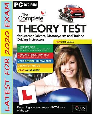 2019 Latest Edition The Complete Car Driving Theory Test PC DVD CD Rom UK FcThr
