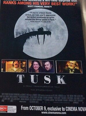 Promotional Movie Flyer Tusk *NOT A DVD*