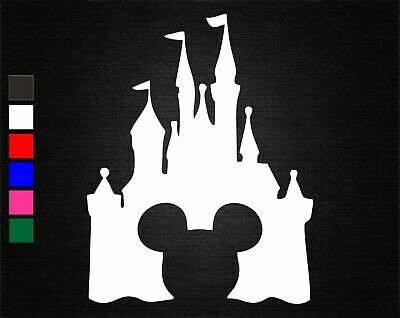 Mickey Mouse Disney Castle Vinyl Sticker Car/van/wall/laptop/tablet/art/gift