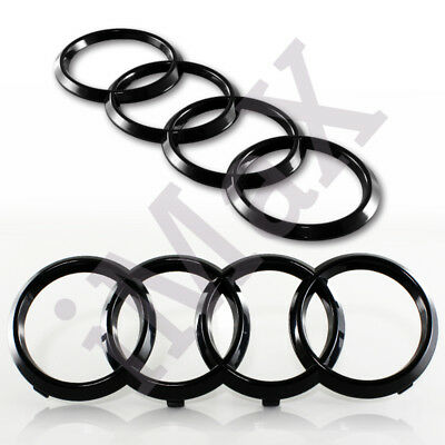 For Audi Black Rings Grill Front Hood A3 A4 S4 A5 S5 A6 S6 Sq7 Tt
