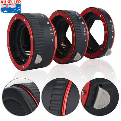 Macro Extension Tube Lens Adapter For Canon EOS EF  Camera Close-Up Lens Ring