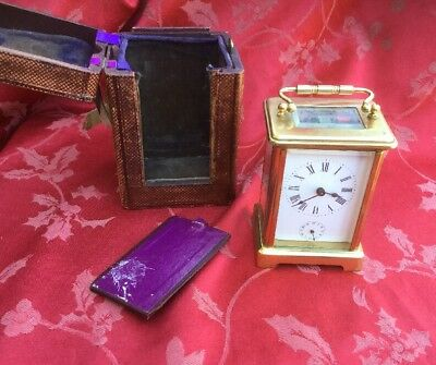 Fine French Carriage Clock Clock With With Alarm Case Runs But Needs A Service