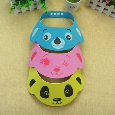 Baby Kids Toddler Bath Shower Shampoo Cap Hat Wash Adjustable Hair Shield Visor