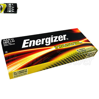 10 x Energizer AAA batteries Industrial 1.5V LR03 Micro AL-Mn MN2400 EXP:2026