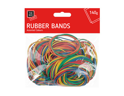 New 250pcs Elastic Rubber Bands Assorted Colours For Home School Office 140g