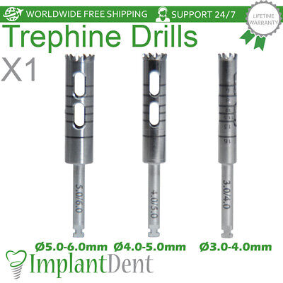 Trephine Burrs Drills Dental Implant Surgical Surgery Tools Stainless Steel