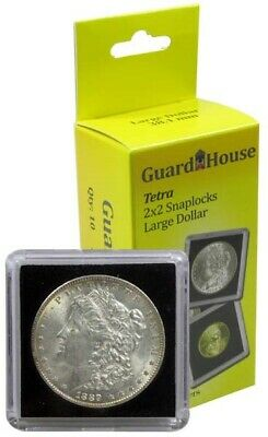 2x2 Snaplocks For US Large Silver Dollar $ Coins 10 Guardhouse Tetra 31.8 Holder