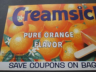 1958  Creamsicle Ice Cream Bar - Vintage Advertising Paper Poster - Litho - NOS