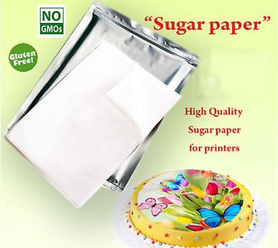 5 PACKS of A4 Size Edible Paper Icing Sheets Pack of 24 - Very Good Quality