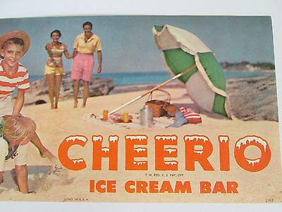 1963 Cheerio Ice Cream Bar - Vintage Advertising Paper Poster - Litho - NOS