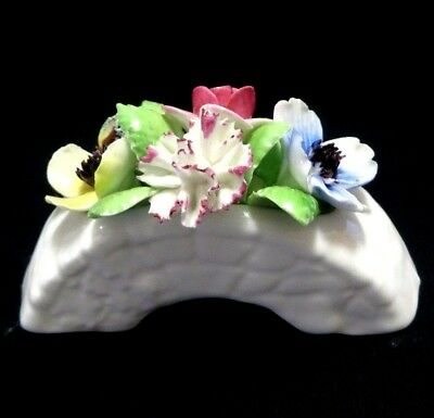 Vintage Royal Doulton - Posy Vase With Fine China Flowers