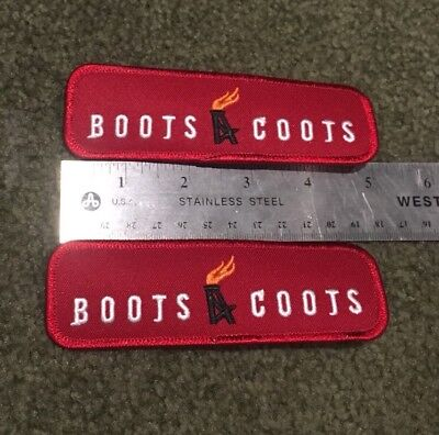 HALLIBURTON BOOTS COOTS oilfield Patch **SHIPS FROM USA** Sold Individually