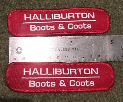 HALLIBURTON BOOTS COOTS oilfield Patch **SHIPS FROM USA**.     Sold Individually