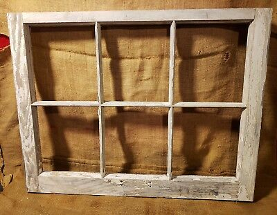 Old Vintage Antique Shabby Chic Window  6 Pane Farmhouse Wedding Frame Barn