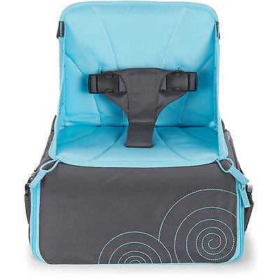 Brica Go-Boost Travel Booster Seat with Diaper and Bottle Storage