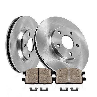 Front 253 mm OE Brake Rotors and Ceramic Pads 1995 - 2004 TOYOTA TACOMA 2WD