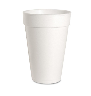 White Disposable Foam Cups 16 oz Hot and Cold Coffee Cup Pack of 500