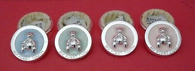 Boy or Girl My First Curl and First Tooth Metal Trinket Box Set Blue & Pink
