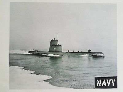VTG c1959 Photographic Print US Navy Official Recruitment Picture Submarine #214
