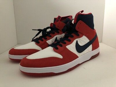 wholesale dealer 4c696 eaed5 Nike SB Zoom Dunk High Elite New Men Sizes Shoes Red College Navy 917567 641