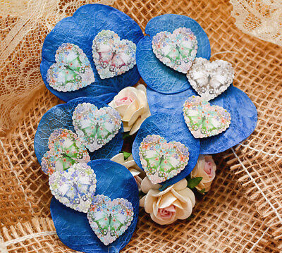 Wedding and funeral heart favours Coloured butterflies wild meadow flower seeds
